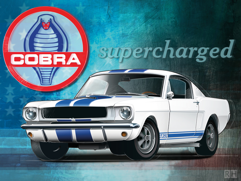 Auto-illustratie Ford Mustang Boss 302